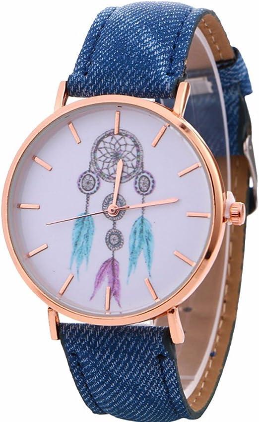 Montre Femme Angelof Montre Modele De Carillons De Vent Femme Bracelet En Denim Montres Femme Fine Doree Bijoux Cadeau Ado Fille Bleu Amazon Fr Montres