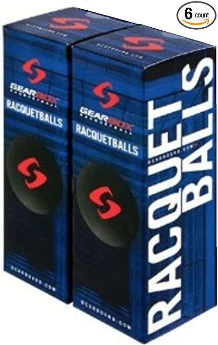 Black 4 Boxes of 3 Balls GearBox Racquetballs