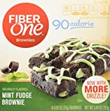 Fiber One 90 Calorie Brownie, Mint Fudge, 6 Count (Pack of 8)