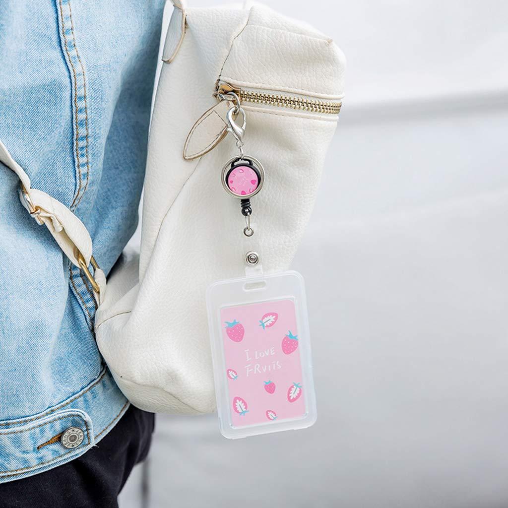 Tinaa Kawaii Porte-cartes Porte-cl/és en Plastique Corde /élastique Jeu de Cartes de Bus 6