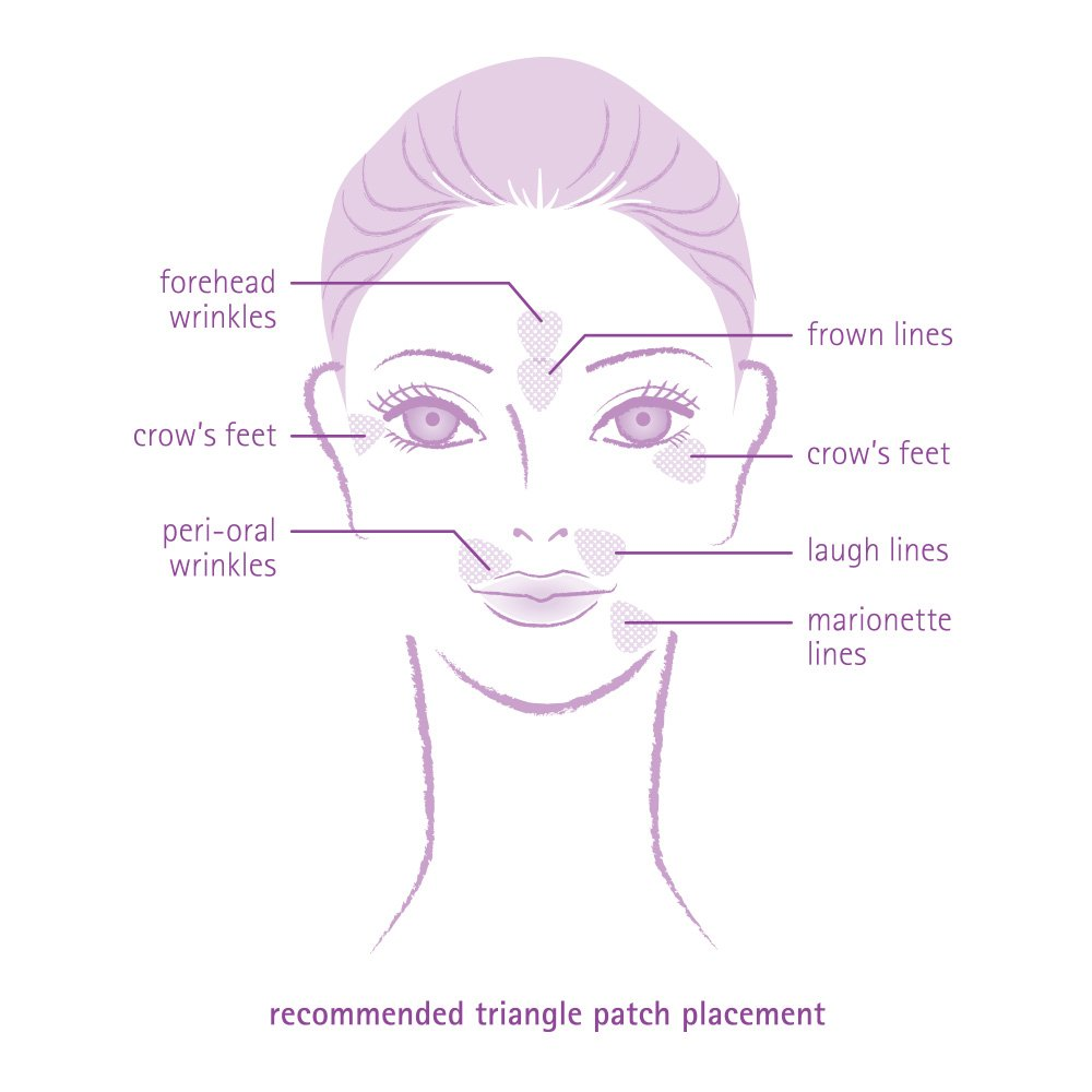 Toute Nuit Facial Wrinkle Flattening Patches, Triangle - Forehead