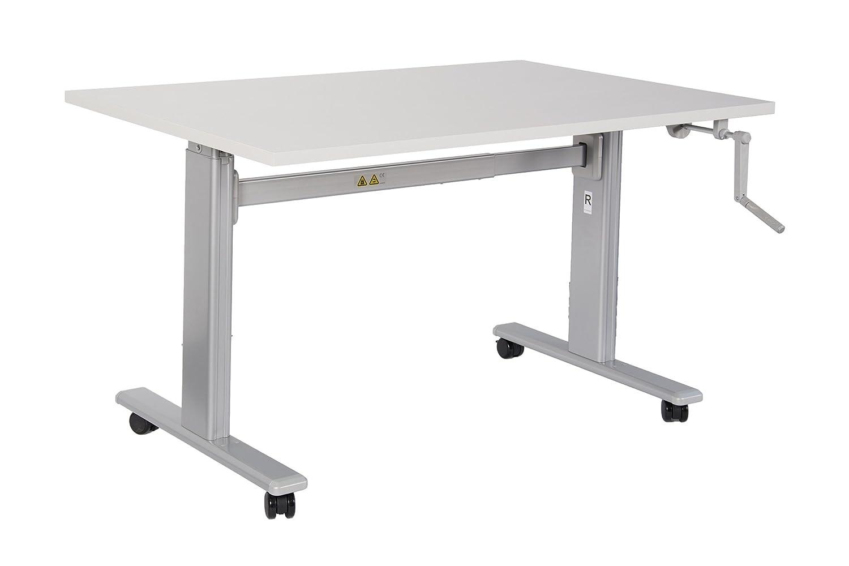 Bürotisch Schreibtisch Manuell Höhenverstellbar Mit Grauen
