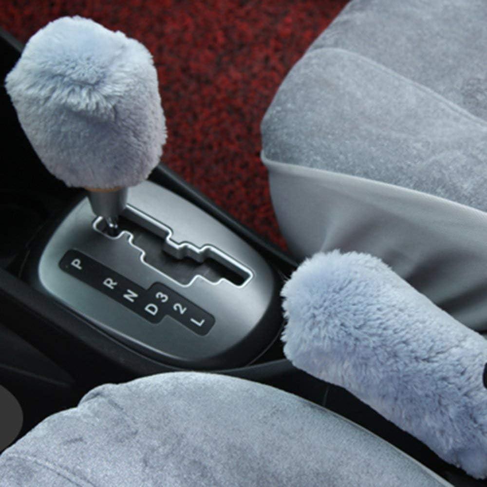 Mouchao Pl/üsch Schaltknauf Stangenabdeckung Parkauto Handbremsgriff Schutzabdeckung grau /& blau