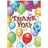 Birthday Balloons Thank You Notes (8 Pack)