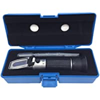 Brix Refractometer with ATC, Dual Scale - Specific Gravity & Brix, Hydrometer in Wine Making and Beer Brewing, Homebrew…