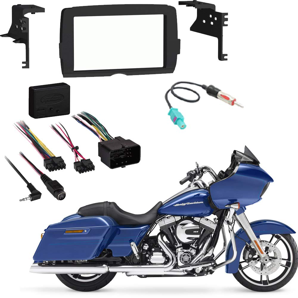 Harley Davidson Roadglide 2015 Double DIN Stereo Harness Radio Install Dash Kit