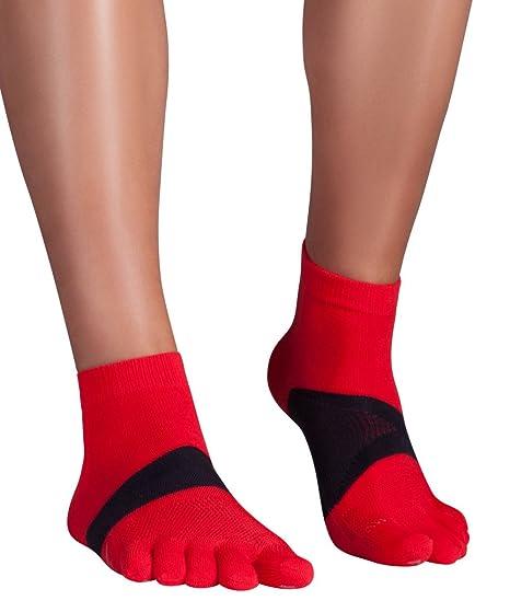 Knitido Marathon TS Ultralite | Calcetines tobilleros de dedos en Coolmax® y algodón, Talla