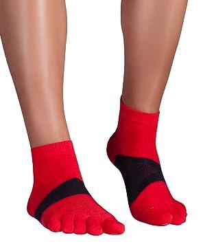Knitido Marathon TS Ultralite | Calcetines tobilleros de dedos en Coolmax® y algodón: Amazon.es: Deportes y aire libre