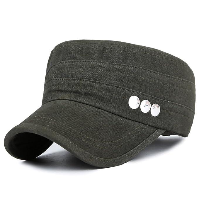 Sombrero/Hombres otoño versión coreana de la tapa plana/Gorra militar/ moda de ocio al aire libre deportes Cap/gorra/Gorras de visera-A ajustable: ...