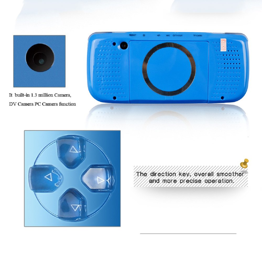 4,3 Pouces Portable Jeux vid/éo Cadeau de No/ël pour Les Enfants Enfants Construit en 653 Jeux Blanc Workingda Consoles De Jeux Portable