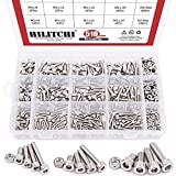 Hilitchi 510pcs M3 M4 M5 Stainless Steel Hex Socket Head Cap Bolts Screws Nuts Assortment Kit - 304 Stainless Steel