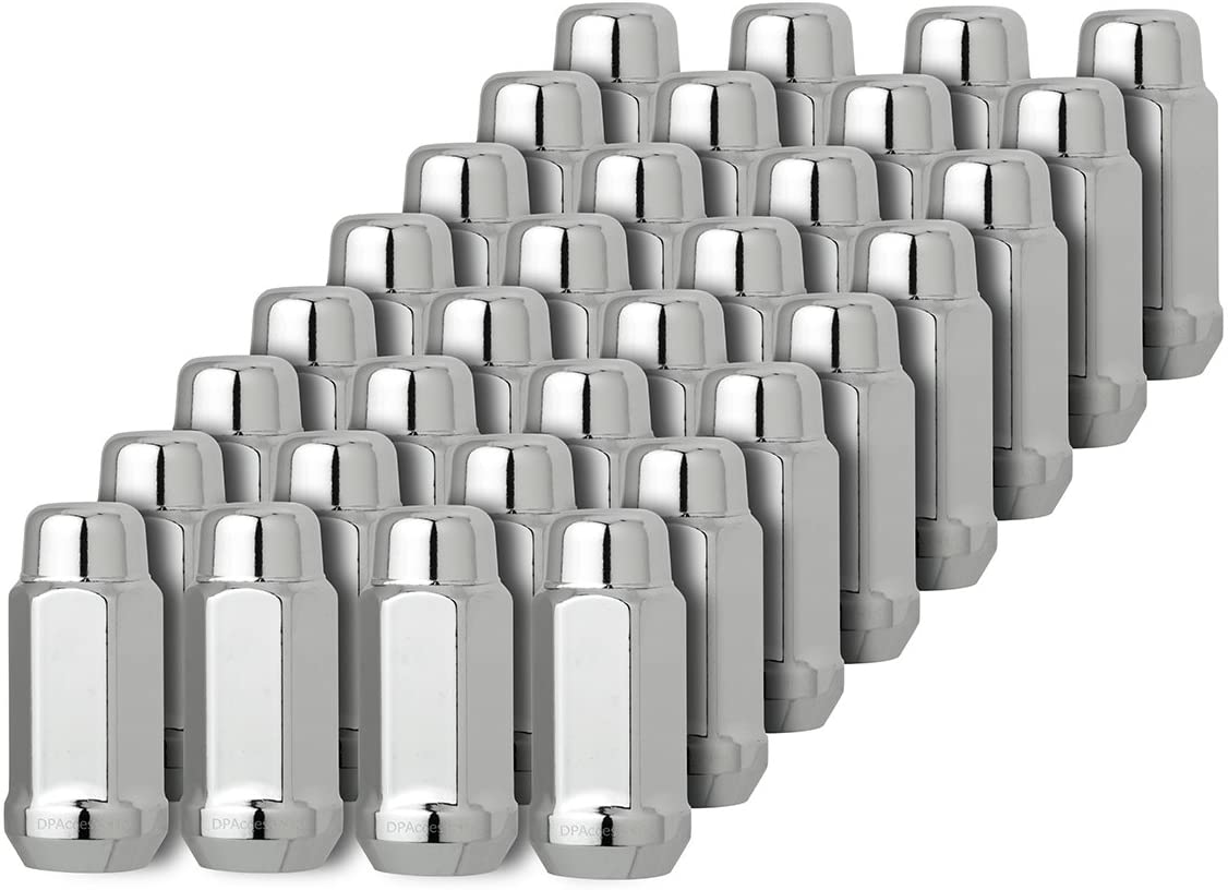 DPAccessories D3419-2305 One 1 13//16 Hex Wheel Lug Nut Chrome 14x2 Closed End XL Bulge Acorn Lug Nut Cone Seat