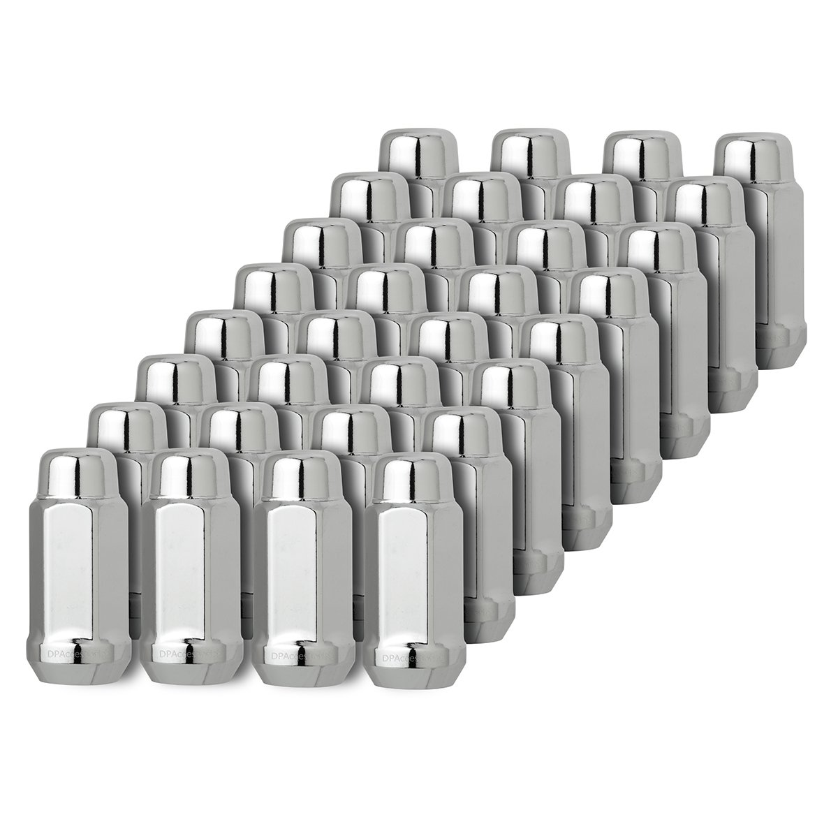 DPAccessories D3418-2305/32 32 Chrome 14x1.5 Closed End XL Bulge Acorn Lug Nuts - Cone Seat - 21mm Hex Wheel Lug Nut