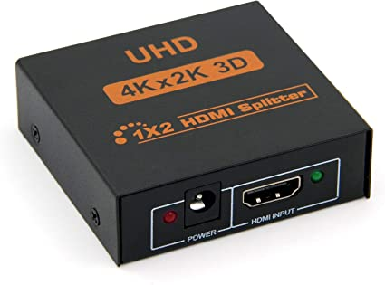 HDMI Splitter Full HD 4K 1080P /& 3D Support HDMI Switch Box 1x2 HDMI Splitter PeoTRIOL 1 in 2 Out HDMI Splitter Ver 1.3 Certified