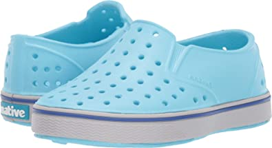 a7f41ab9feb Native Kids Shoes Unisex Miles Slip-On (Toddler Little Kid) Hamachi Blue