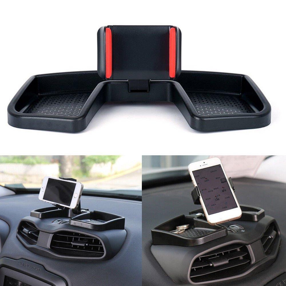 Support noir pour té lé phone portable et GPS - Pour tableau de bord Beside_Auto