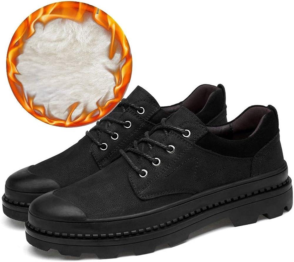 Derbys Homme Chaussures de Travail pour Hommes avec Ceinture, Bout Rond et décontracté Brown