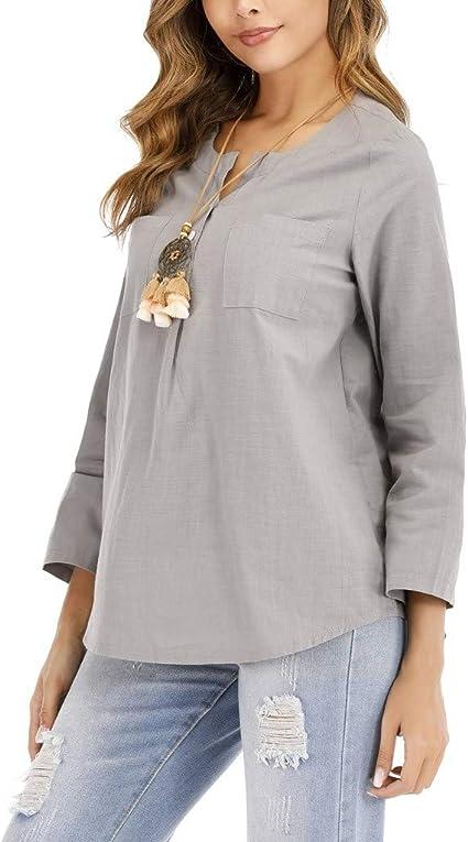 ZODOF Camisa de Gasa de Playa Blusa de Manga Larga Blusa Suelta de con protección Solar para Mujer Blusas y Camisas: Amazon.es: Instrumentos musicales