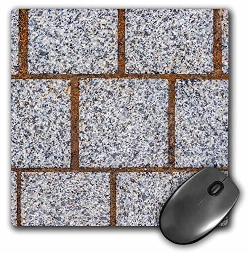 (3dRose Alexis Photography - Texture Stone - Image of three rows of polished granite stone blocks of grey color - MousePad (mp_285821_1))