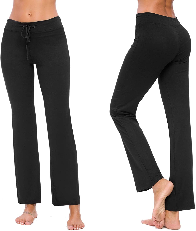 TownCat Sweatpants for Women, Soft Modal Yoga Pants, Comfy Sweat Pants for Athletics, Workout and Home (Black1, XXL)
