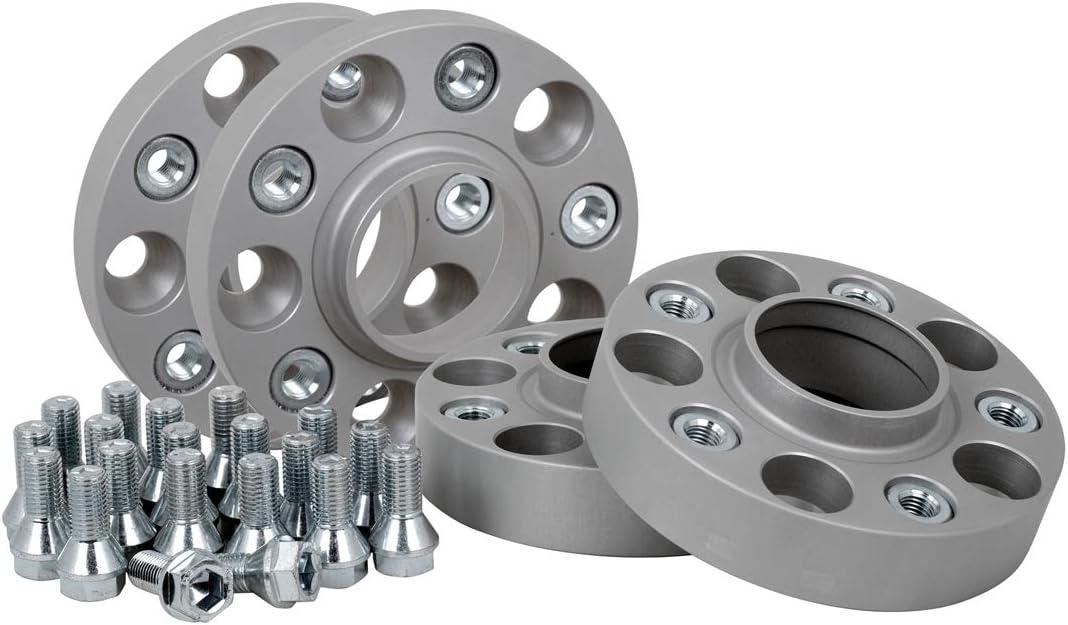 Spurverbreiterung Aluminium 4 St/ück inkl T/ÜV-Teilegutachten /& ABE 20//30 mm pro Scheibe // 40//60 mm pro Achse