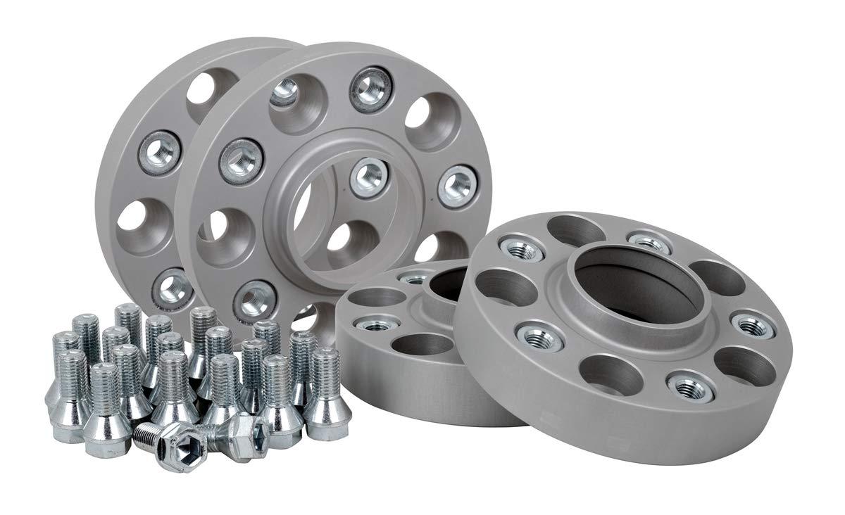 Spurverbreiterung Aluminium 4 St/ück T/ÜV-Teilegutachten 20//25 mm pro Scheibe // 40//50 mm pro Achse inkl