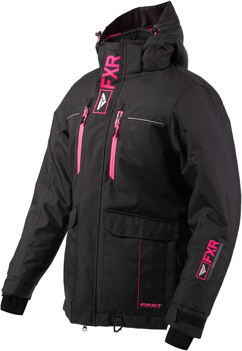 FXR Womens Excursion Ice Pro Jacket 2020 Black//Electric Pink - Size 12