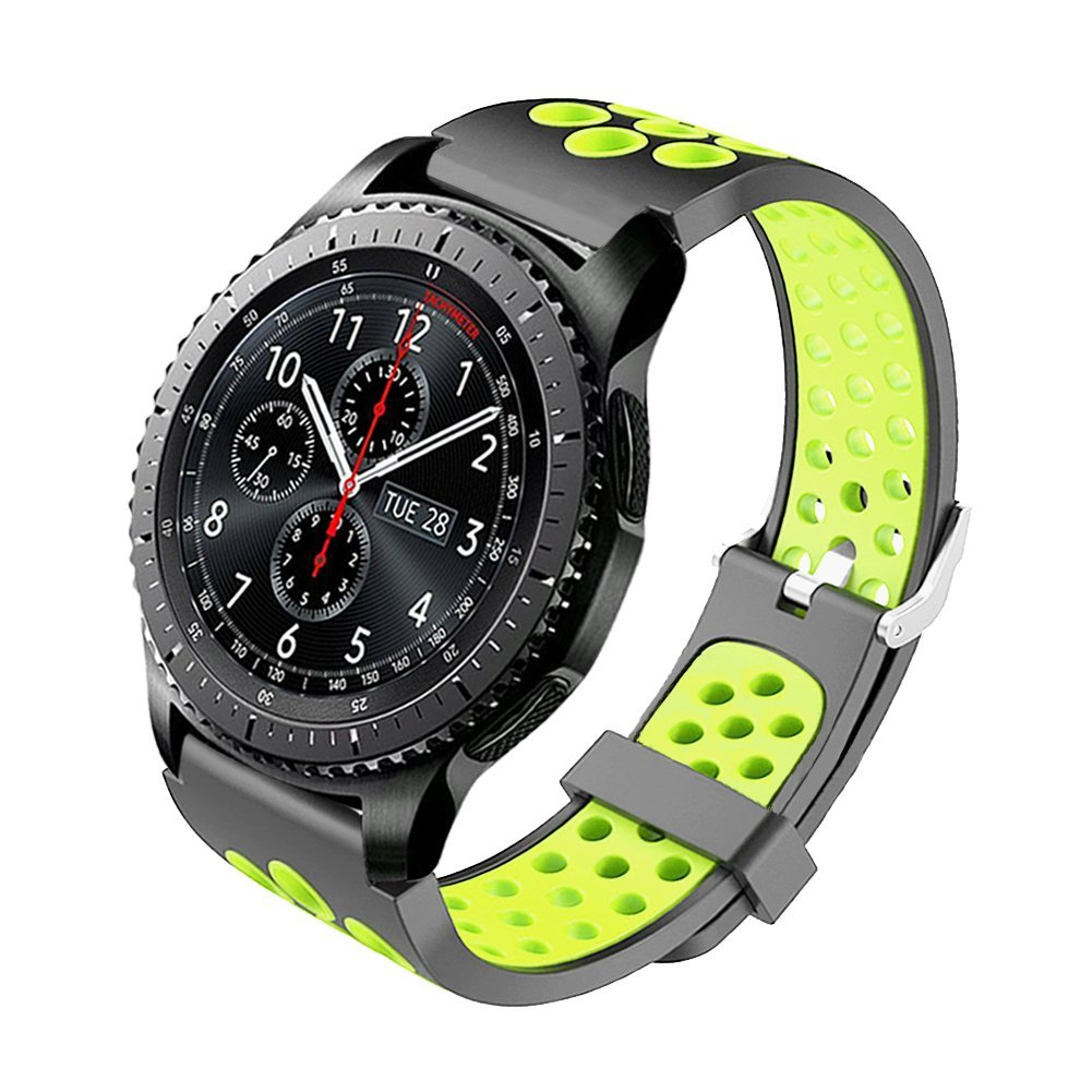 Budesi Bands Compatible with Samsung Gear S3 Frontier/Classic Smart Watch, 22mm Soft Replacement Sport Bracelet Strap Band Compatible Samsung Gear S3 ...