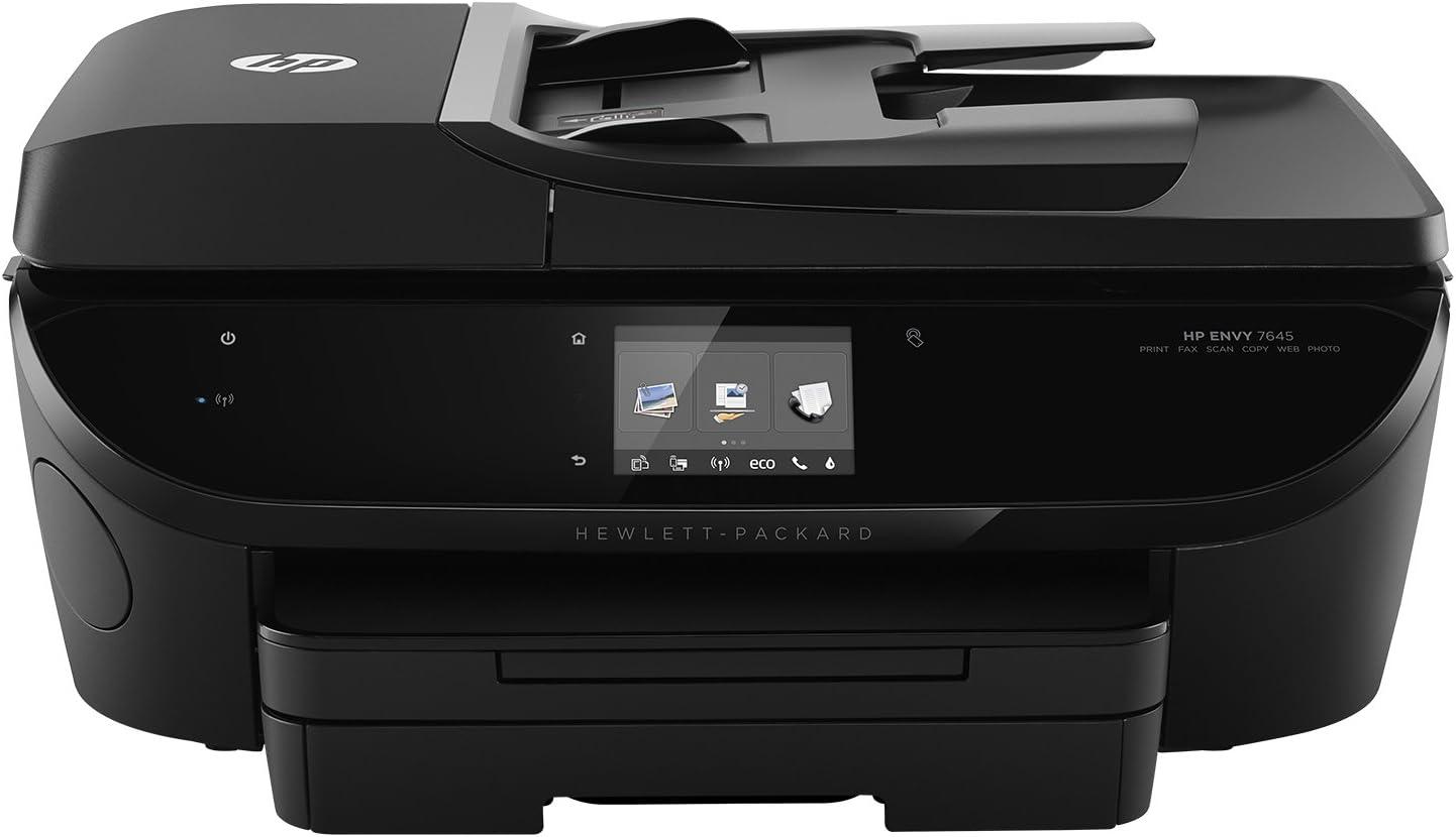 HP E4W44A Envy 7645 e-All-in-One Printer, Black (Renewed)