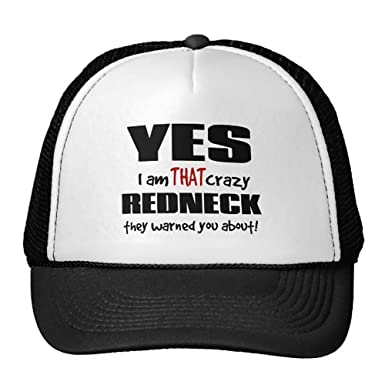 08526ff90b1 Image Unavailable. Image not available for. Color  Smity 106 Crazy Redneck  Trucker Hat Black