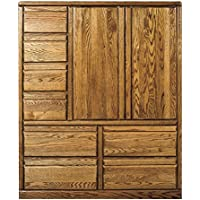 Bullnose Eight Drawer Armoire Golden Oak