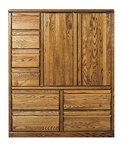 Bullnose Eight Drawer Armoire Natural - Alder Armoire Natural