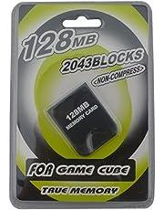 Link-e ® - Carte mémoire haute capacité 128mb (2043 blocks, mémoire non compressée) pour console Nintendo Gamecube