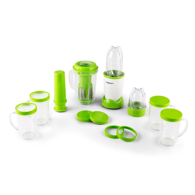oneConcept Smoothy batidora licuadora (350 W, 4 recipientes, vaso medidor, exprimidor, motor silencioso) - verde blanco: Amazon.es: Hogar