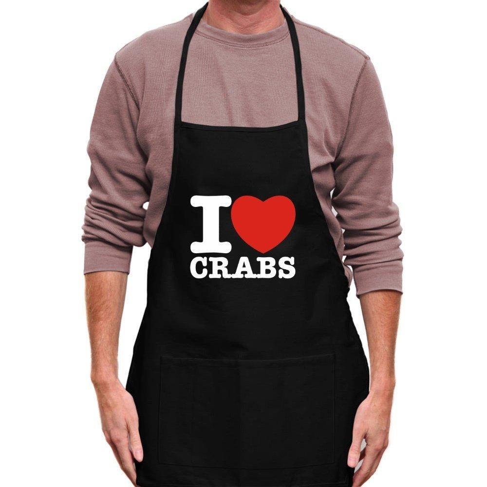 Teeburon I love Crabs Apron