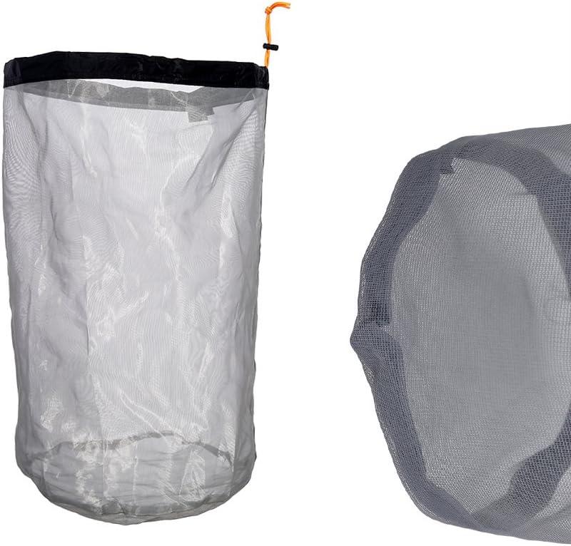 Bolsa de Almacenamiento de Material de Saco con cord/ón Ultraligero para Excursionismo de Viaje al Aire Libre Alomejor Bolsa de Almacenamiento de Malla 1Pc