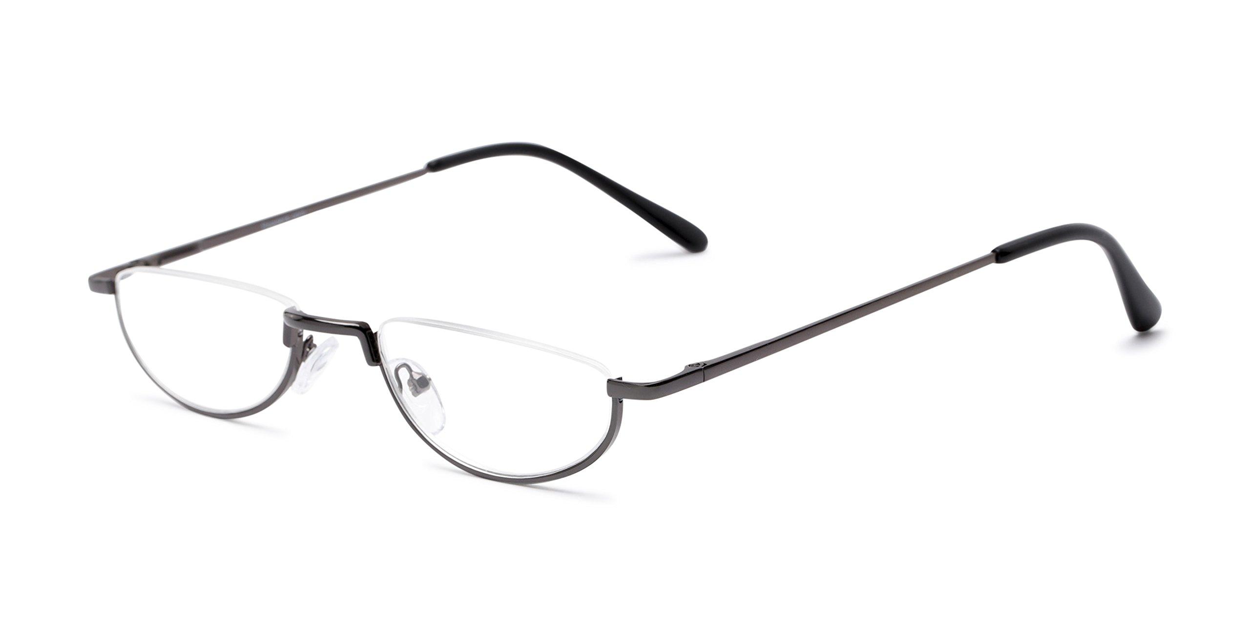 The Lynwood +1.50 Grey Reading Glasses
