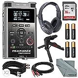 Marantz Professional PMD561 Professional Portable Audio Recorder with Headphones + 16GB + XPIX table Top Tripod and FiberTique Cloth