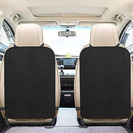 2er Pack Extra Große Trittmatten Für Autositze Schützt Vor Abnutzungserscheinungen Feuchtigkeit Und Schmutz Wasserdichter Rücksitzschutz Für Autositze Für Kinder Auto