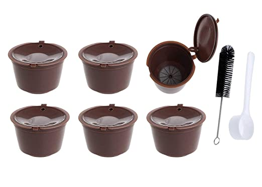 Poweka Dolce Gusto - Cápsulas de café reutilizables (6 unidades ...