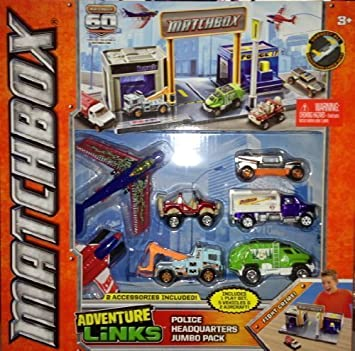 Matchbox Adventure Links Police Headquarters Jumbo Pack: Amazon.es: Juguetes y juegos