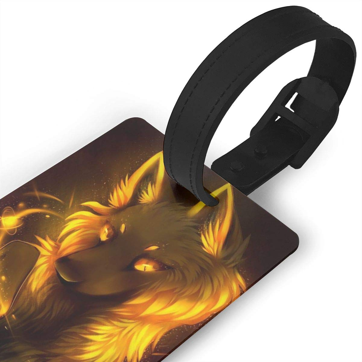 2 Pack Luggage Tags Wolf Baggage Tag For Suitcase Bag Accessories