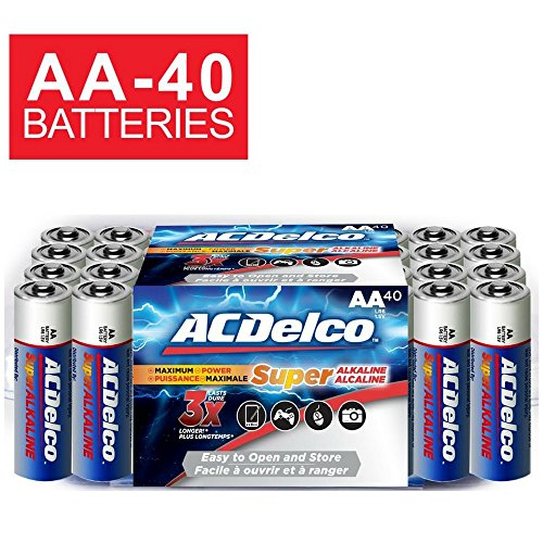 ACDelco Batteries Alkaline Battery Count Pack