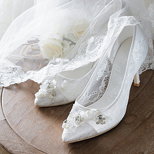 4 Documentary Heels Bride VIVIOO Pointed Women With Women Shoes Wedding Wedding In White Shoes Prom Sandals Shoes The High 0wqqxaAU7