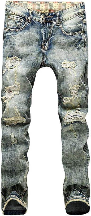 Lanskirt Pantalones Vaquero Hombre Slim Pantalones De Trabajo De Hombres Elasticos Con Estampados Casual Pantalones Rotos De Jogger Overol Chandal Elasticos 28 38 Amazon Es Ropa Y Accesorios