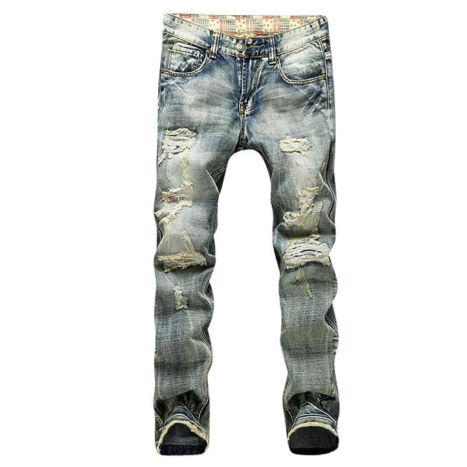 Amazon.com: Xiaoa - Pantalones vaqueros de ciclista con ...