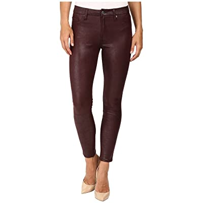 7 For All Mankind Women's Skinny Faux Leather Jean Ankle Pant: Clothing