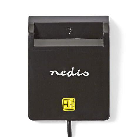 NEDIS CRDRU2SM2BK Lector de Tarjetas Inteligentes   USB 2.0 ...