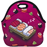 Aigemi Neoprene Lunch Tote Bag Insulated Reusable Lunch Bags Boxes for Women, Adults, Kids, Girls, and Teen Girls (Dessert)