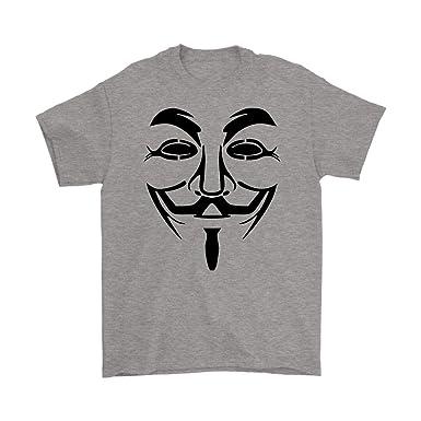 1a274589 Guy Fawkes Anonymous Web Programmer T Shirt Hacker Vendetta Mask ...